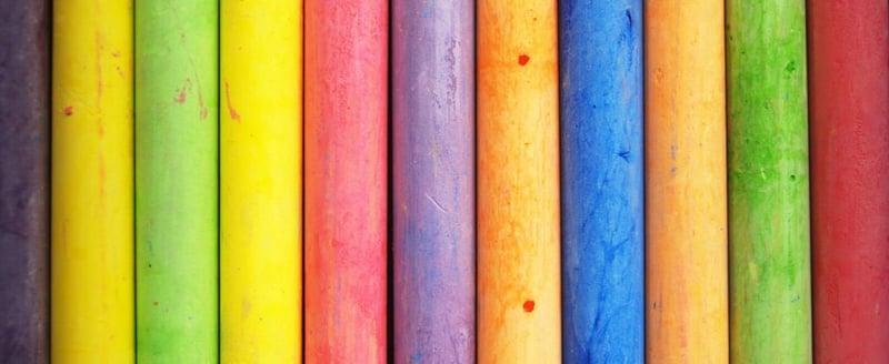 multicoloured book spines
